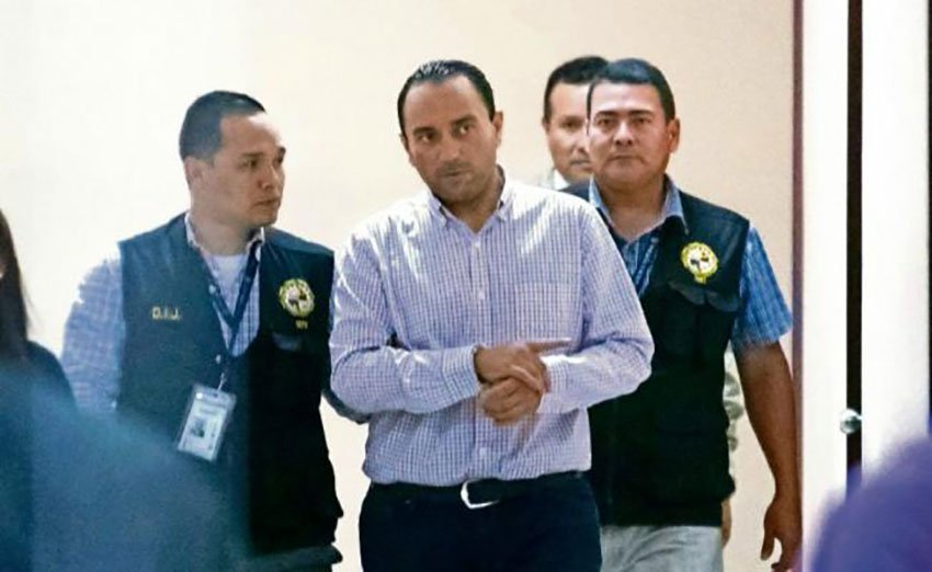 Borge after his arrest in Panama.