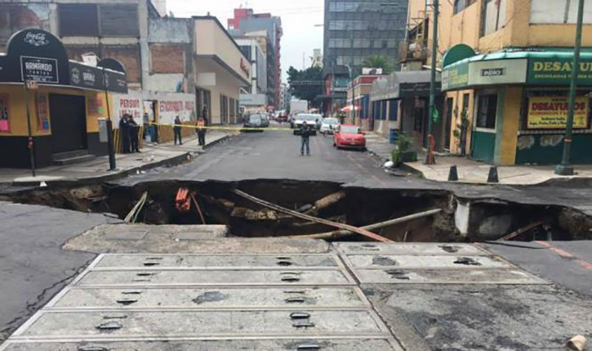 New sinkhole in historic center.