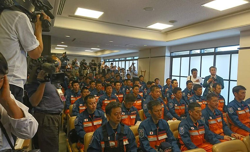 Japanese rescue workers in Mexico City this week.