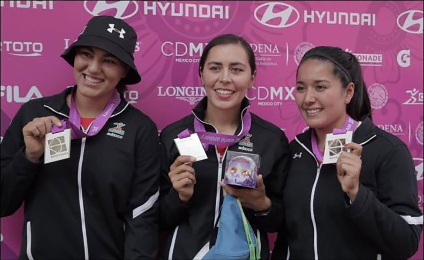 Mexico's medal-winning archers.