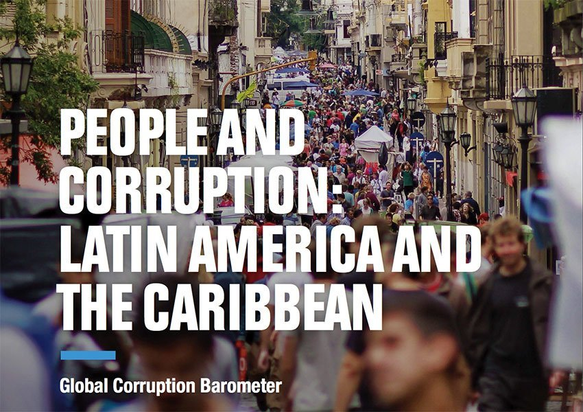 The new Global Corruption Barometer from Transparency International.