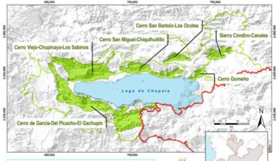 The Green Ring of Lake Chapala, and the new protected area.