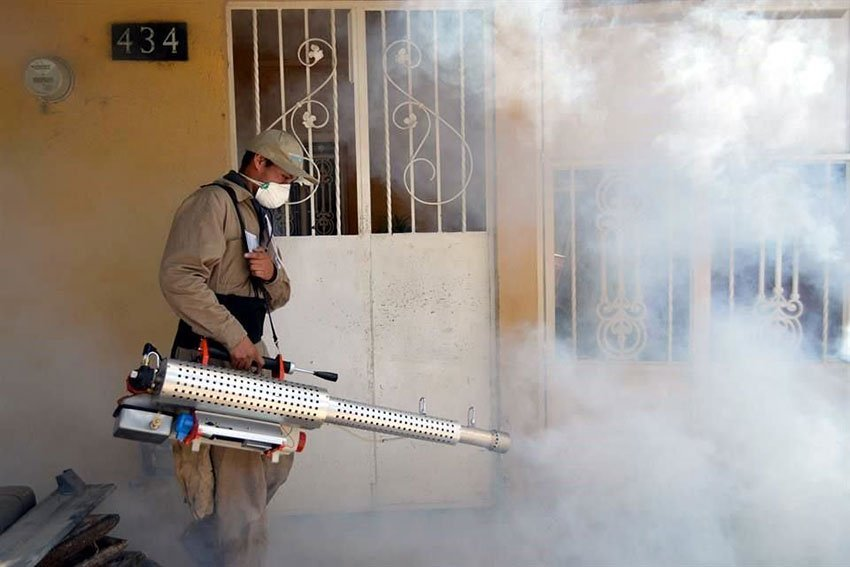 Insecticide is sprayed in Guanajuato in efforts to prevent dengue.