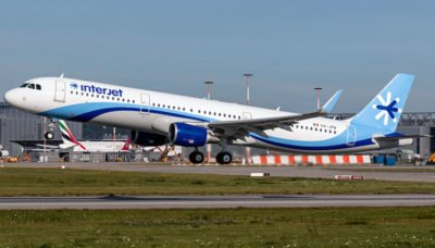 Interjet began a new Vancouver service yesterday.