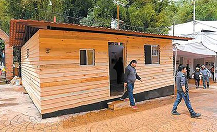 One of the new houses to be built in Mexico City.