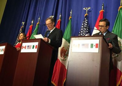 Freeland, Lighthizer and Guajardo: talks extended.
