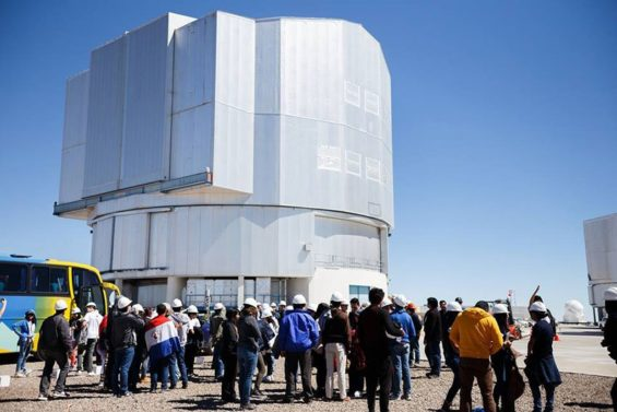 Students at the Very Large Telescope in Chile.