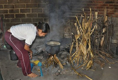 Wood is a common fuel for cooking.