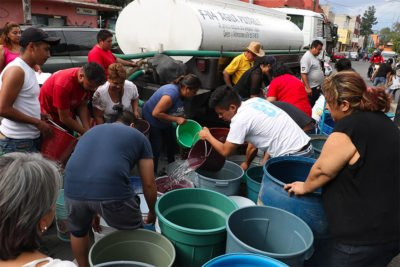 Earthquake created a water crisis for many.