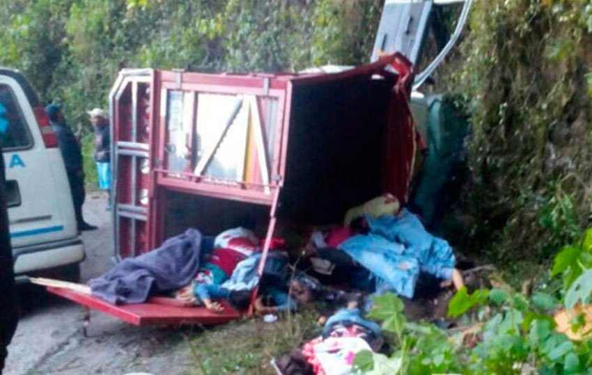 Scene of the accident in Puebla.