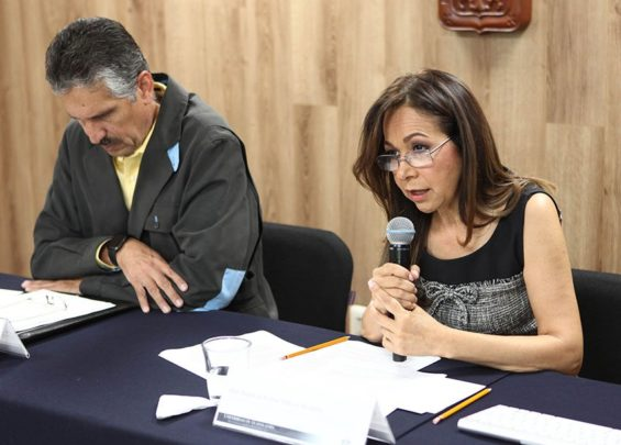 Patricia Galeana at the presentation of the study.
