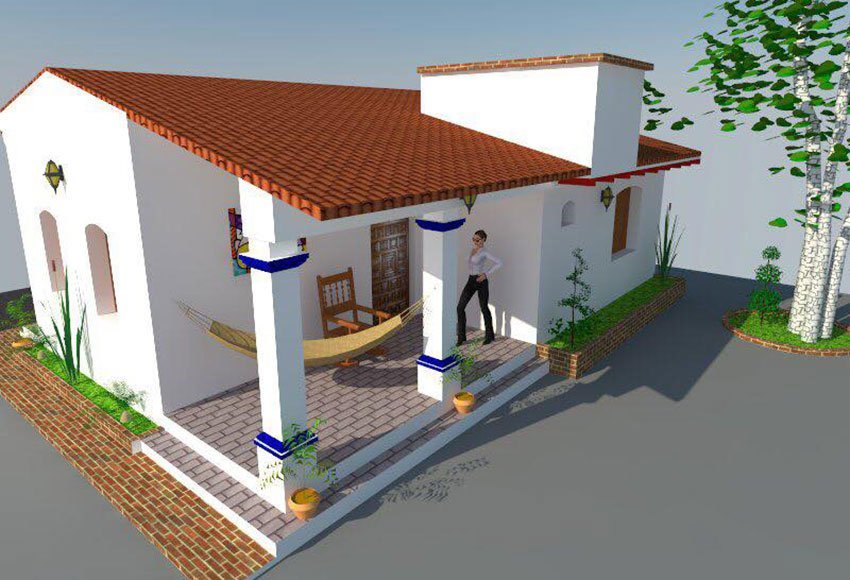 One of the new homes designed by Mi Hogar Tradicional.