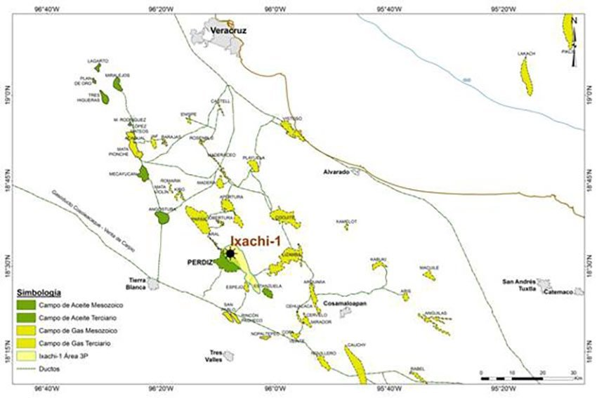 Site of Pemex's oil find.