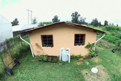 Rainwater harvest system installed by the University of Guadalajara.