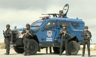 One of the armored vehicles to be employed by a new police unit.