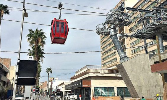 One of Torreón's new cable cars.