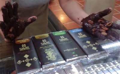 Chocolate by Kakaw Museo, one of the competition winners.