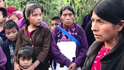 Displaced people from Chalchihuitán.