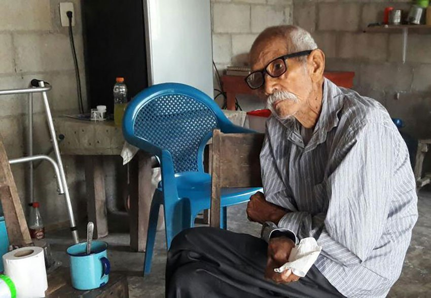 Don Chuy, Mexico's oldest man until his death yesterday.