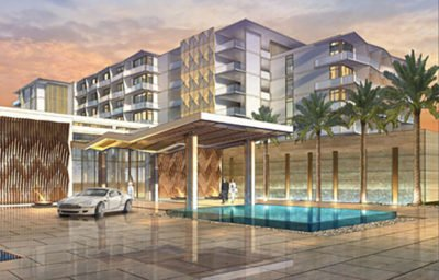 Architect's rendering of the new Hilton Cancún resort.