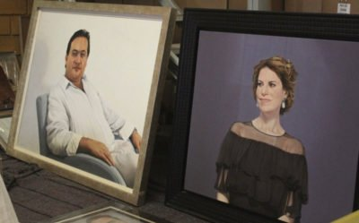A painting of Duarte and Macías was among the items seized.