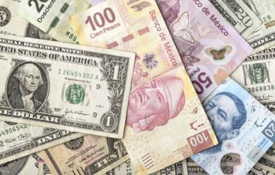 us dollars and mexican pesos