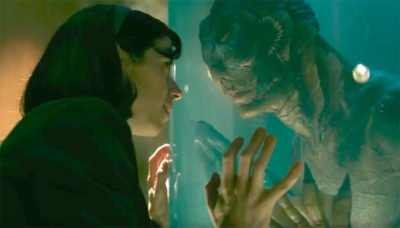 The janitor and the aquatic creature in The Shape of Water.