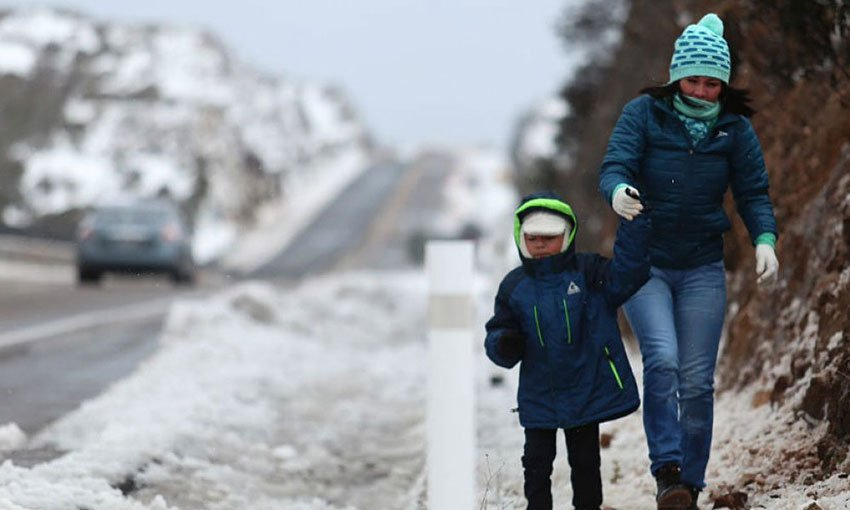 Snow and cold temperatures are being recorded in northern states.