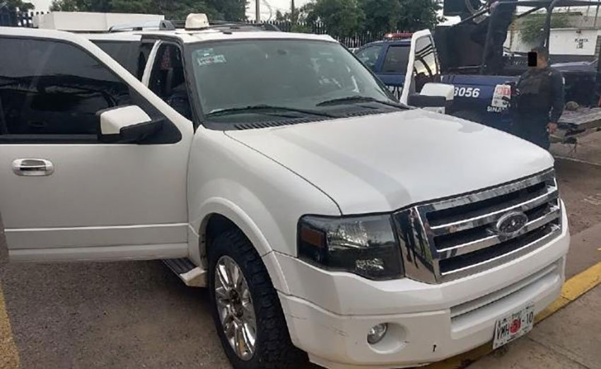 The vehicle in which the suspected vigilantes were traveling.