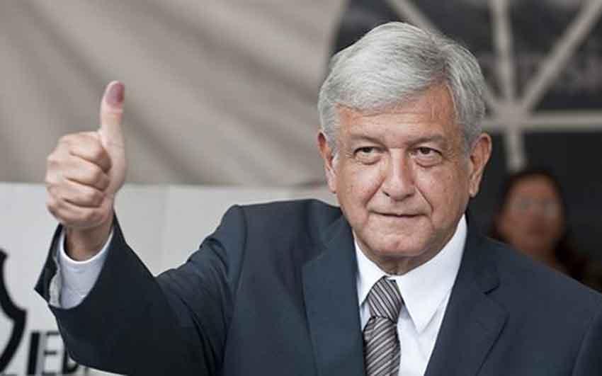 López Obrador: getting help from Trump.