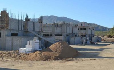 New barracks under construction in Los Cabos with private-sector support.