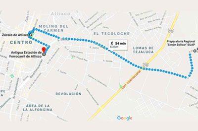 """Location of the """"smart neighborhood"""" in Atlixco, Puebla."""