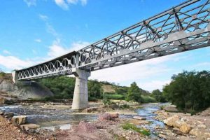 A bridge on the long-awaited highway between the capital of Oaxaca and the coast.