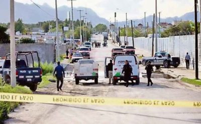 Crime scene in Chihuahua, one of many.