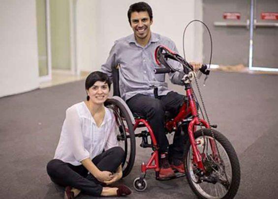 Bicycle innovators Valencia and Medina.