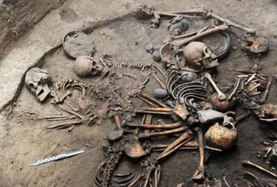 Remains that were found in Tlalpan, Mexico City.