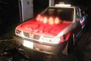 Taxi found yesterday in Veracruz.