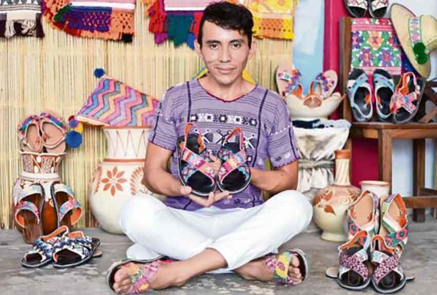Jiménez and his colorful sandals.