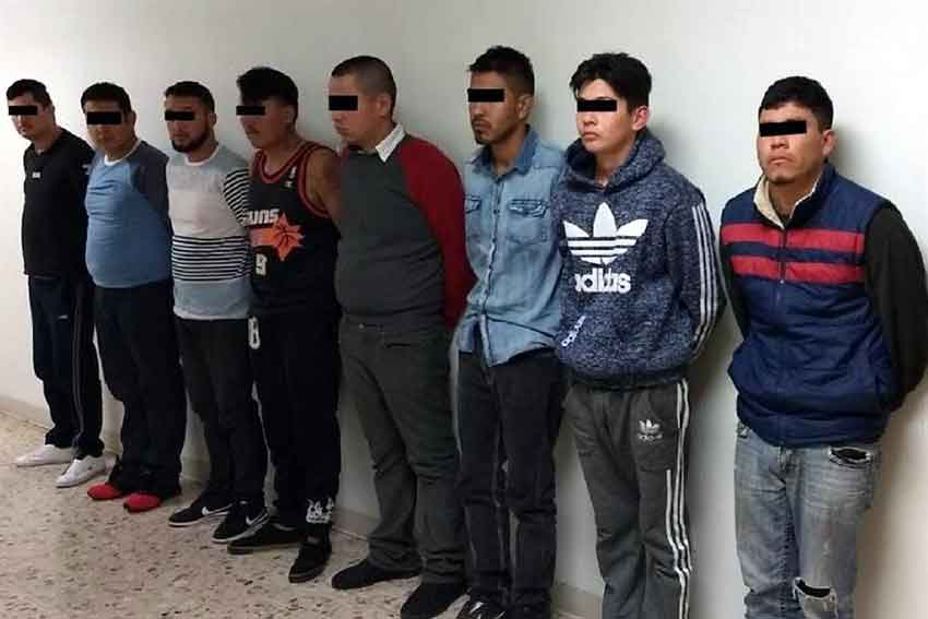 Alleged members of the armed wing of the Juárez Cartel.