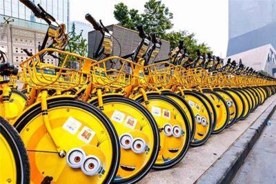 Ofo bicycles in Beijing.