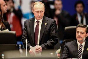Putin, left, and President Peña Nieto