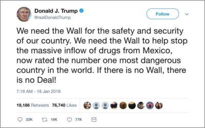 One of Trump's three Mexico tweets.