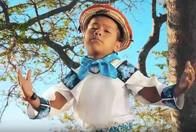 Nine-year-old Yuawi, indigenous sensation.