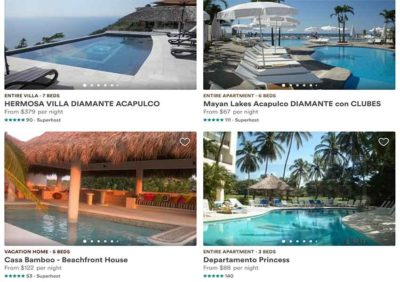 Some Airbnb listings for Guerrero.