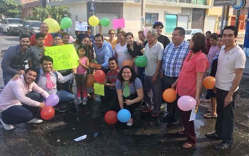 Bache birthday party in Tuxtla Gutiérrez yesterday.