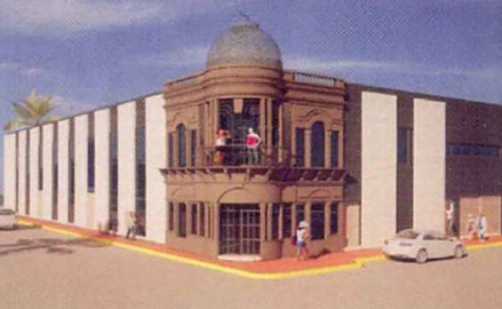 Proposed facade for new cultural center.
