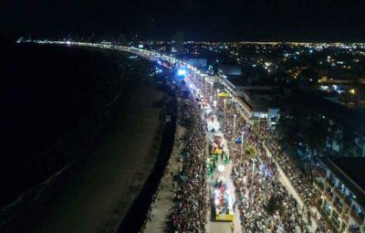 Carnival parade on the Malecón Sunday.