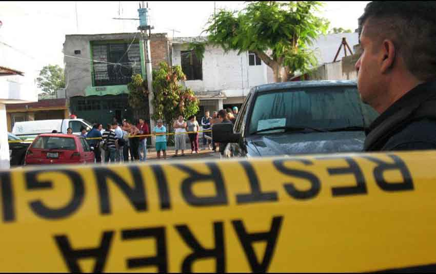A Guadalajara crime scene.