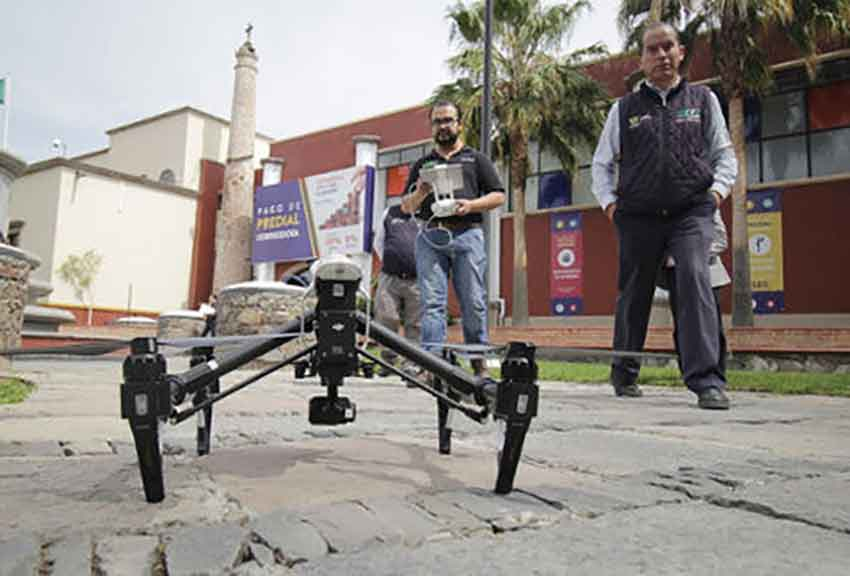 One of the Querétaro university's new drones.
