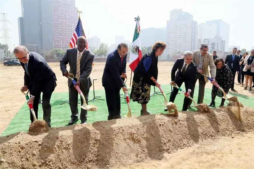 Ambassador Jacobson and other officials do some digging this morning.
